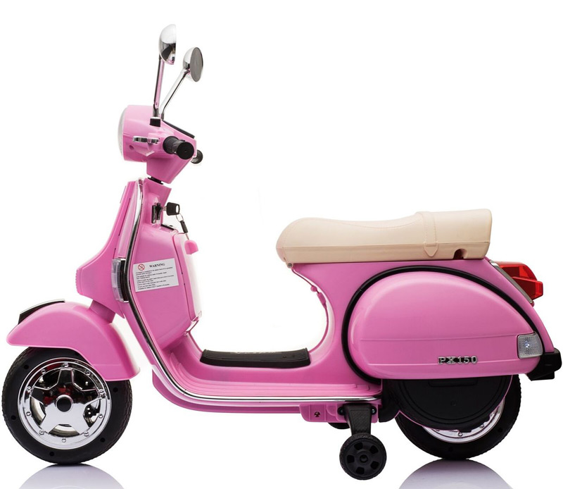 Vespa Electric Scooter >> Licensed Vespa Px150 12v Ride On Children S Electric Scooter Bike Pink