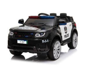 Black Police Ride On Car