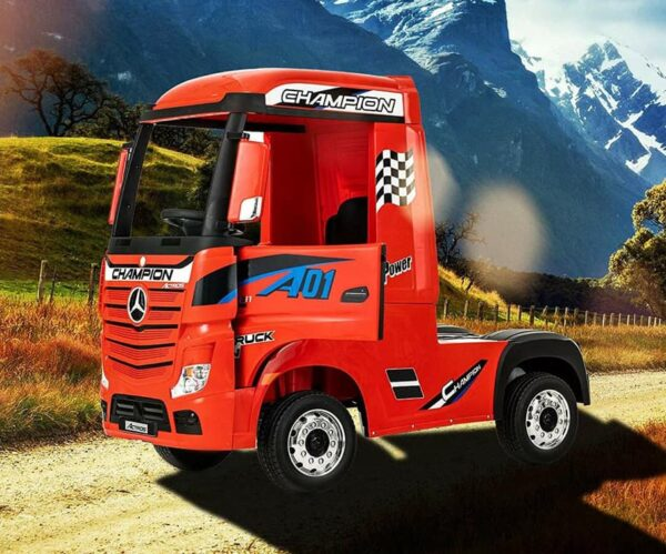 Mercedes Red Actros Truck